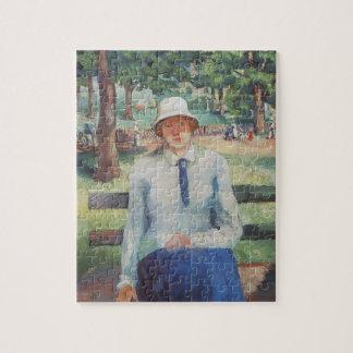 Chica parado de Kazimir Malevich Puzzle