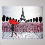 Chica parisiense impresiones
