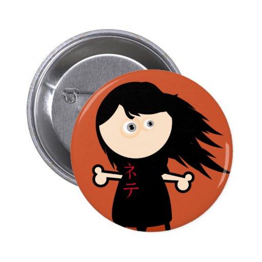 Chica pegajoso #1 pins