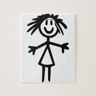 Chica pegajoso puzzles