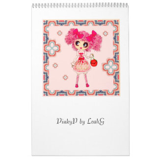 Chica PinkyP de Kawaii Calendarios