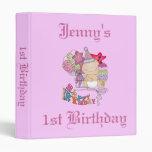 Chica poco firme del feliz cumpleaños de 1 año