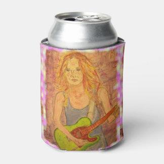 chica popular de la roca enfriador de latas