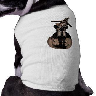 CHICA PUNKY de la CALABAZA 3D - TONO MEDIO TEMPRAN Camiseta De Perro