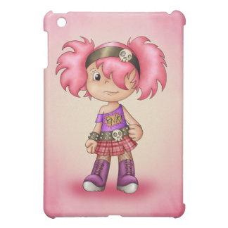 Chica punky lindo del dibujo animado
