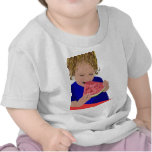Chica que come la sandía camisetas