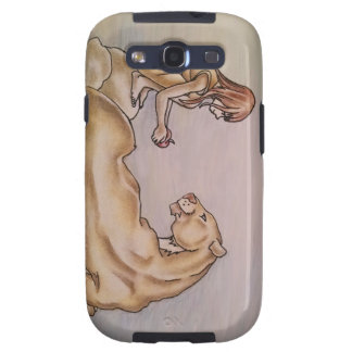 Chica que da el león Apple Galaxy S3 Cobertura
