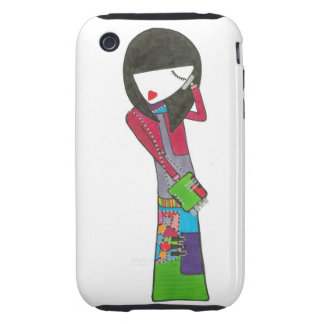 chica que habla elegante en iphone carcasa though para iPhone 3
