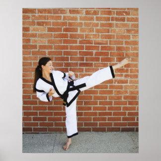 Chica que hace los artes marciales 2 póster
