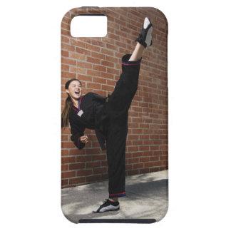 Chica que hace los artes marciales 3 funda para iPhone SE/5/5s