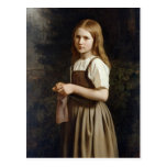 Chica que hace punto, 1854 postales