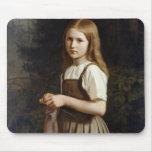 Chica que hace punto, 1854 tapete de ratón