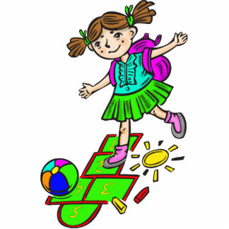 Chica que juega el Hopscotch 2 Esculturas Fotograficas