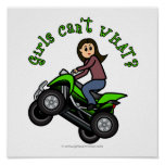 Chica que rueda cuatro de la luz ATV el | Impresiones