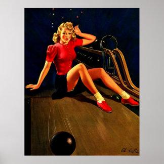 Chica que rueda Pin-para arriba de Buell del Al re Poster