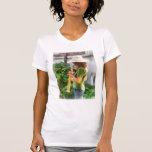 Chica que toca el saxofón camiseta