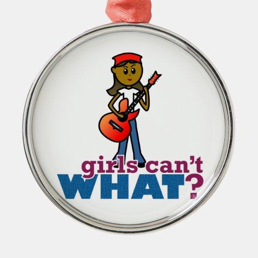 Chica que toca la guitarra ornaments para arbol de navidad