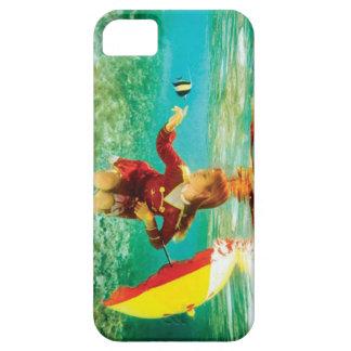 Chica que toca los pescados iPhone 5 carcasa