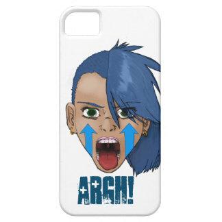 Chica rebelde del grito iPhone 5 fundas