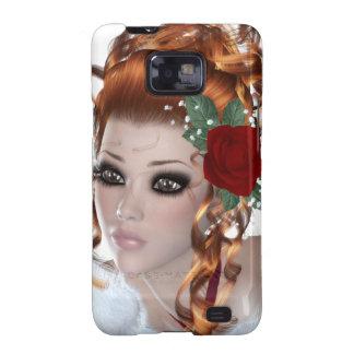 Chica Redheaded Galaxy S2 Carcasas