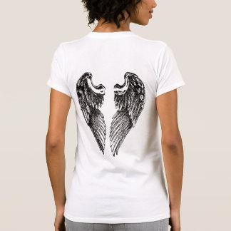 Chica redimido T de las alas Camisetas