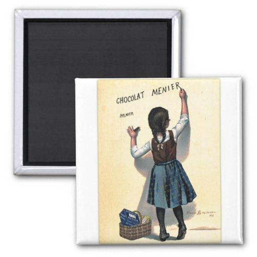 Chica retro de Chocolat del chocolate del kitsch d Iman De Frigorífico