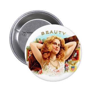"""Chica retro de la """"belleza"""" del arte de la caja de pin"""