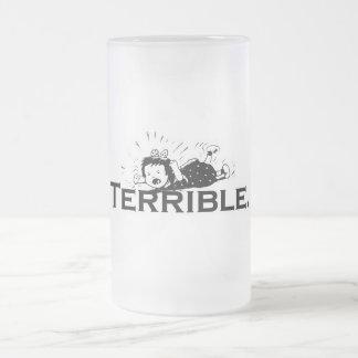 Chica retro de la rabieta terrible del genio taza de cristal