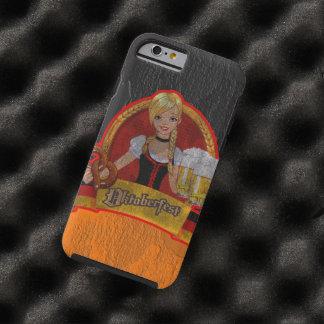 Chica retro de Oktoberfest Waitres del Grunge Funda De iPhone 6 Tough