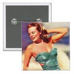 Chica retro del traje de baño de los años 40 del k pins