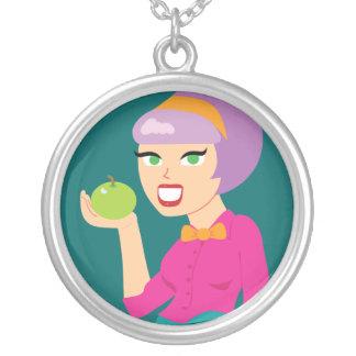 Chica retro fresco de Apple Colgante