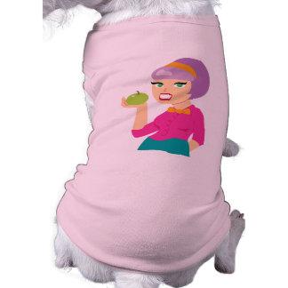 Chica retro fresco de Apple Camisa De Perrito