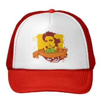 chica retro gorra