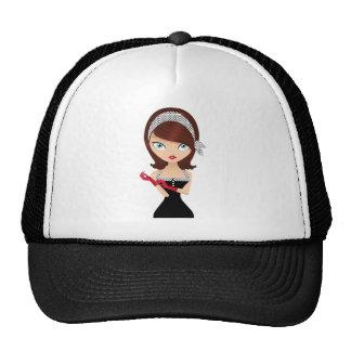 Chica retro gorras