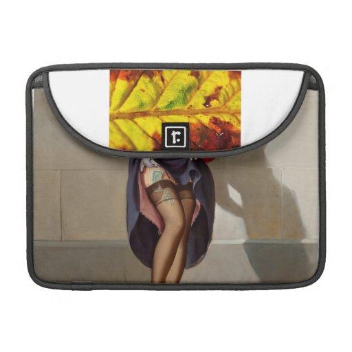 Chica retro Pin-Para arriba Fundas Macbook Pro