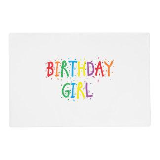Chica reversible del cumpleaños/día especial salvamanteles