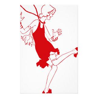 chica rojo de la aleta papeleria personalizada