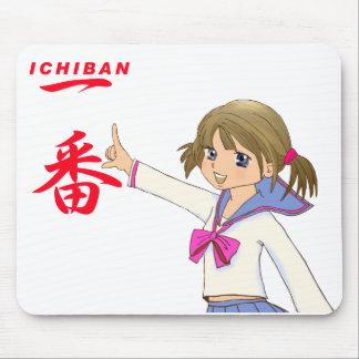 CHICA ROJO de MOE de Fuku de los sueros de ICHIBAN Mousepad