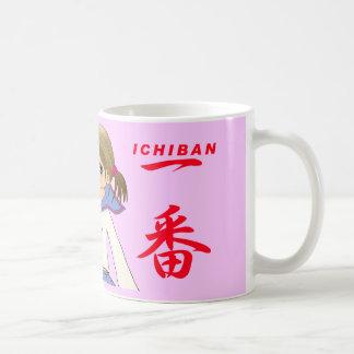 CHICA ROJO de MOE de Fuku de los sueros de ICHIBAN Taza