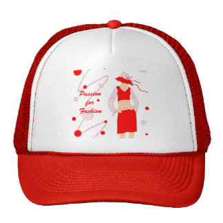 Chica rojo del vestido - gorra