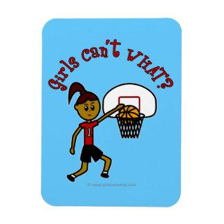 Chica rojo oscuro del baloncesto imanes flexibles
