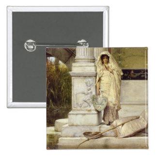 Chica romano de Fisher, 1873 Pin Cuadrada 5 Cm