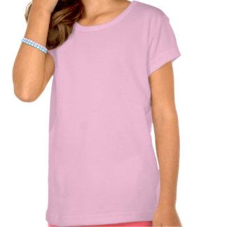 Chica rosa T-shirt con mariposa Playeras