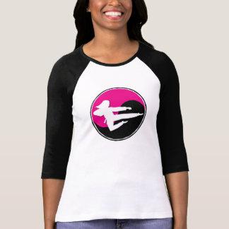 CHICA rosado 1 del karate de Yin Yang Camisetas