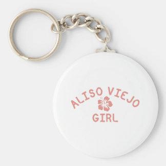 Chica rosado de Aliso Viejo Llavero Redondo Tipo Pin