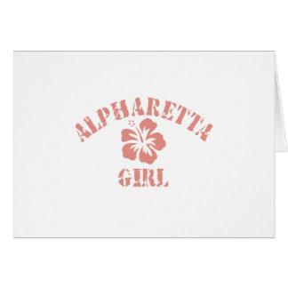 Chica rosado de Alpharetta Tarjeta
