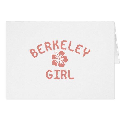 Chica rosado de Berkeley Tarjeta De Felicitación