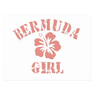 Chica rosado de Bermudas Postal
