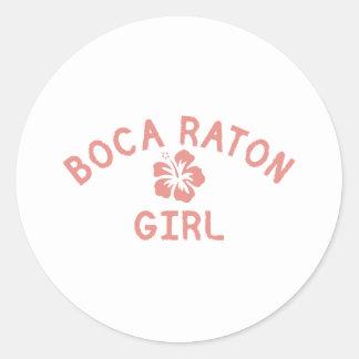 Chica rosado de Boca Raton Pegatinas