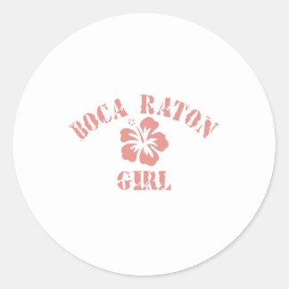Chica rosado de Boca Raton Etiqueta